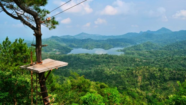 5 Days tour: Borobudur – Dieng – Prambanan – lava kali /merapi – ulen sentalu – Kraton – taman sari – gumuk pasir – Pines forest – or negeri di atas                        awan   –  boko temple or  brexi rock climbing / ijo temple